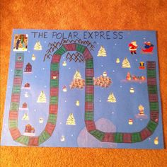 Homemade polar express game. My favorite story! I drew most of it on and used some clip art.