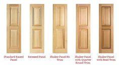 Solid shutter for windows details pinterest shutters - Unfinished wood shutters interior ...