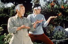The Karate Kid, Part III - Publicity still of Ralph Macchio & Pat Morita. The image measures 1200 * 792 pixels and was added on 22 August Daniel Karate Kid, The Karate Kid 1984, Karate Kid Movie, Karate Kid Cobra Kai, Ralph Macchio The Outsiders, World Movies, Kid Movies, Parks And Recs, 1980s Films