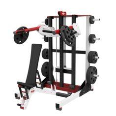 One Arm Row, Fitness Supplies, Plate Storage, Muscular Development, Smith Machine, Fitness Design, Gym Design, Bar Led, Split Squat