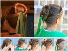 Frozen hairstyle maybe without the ribbon thoe