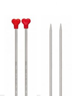 Addi Knitting Needles heart shaped stoppers for knitting lovers Addi Knitting Needles, Circular Knitting Needles, Knitted Bags, Needles Sizes, Be My Valentine, Heart Shapes, Sewing Crafts, Tableware, Lovers