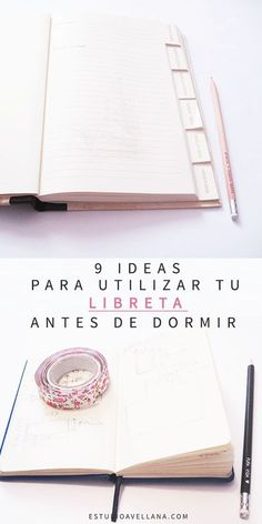 Ejercicios de escritura antes de dormir - Tu libreta de mesilla