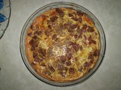 Aprenda a preparar a receita de Quiche de mussarela com calabresa