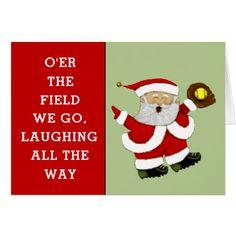 #funny - #softball Christmas Card