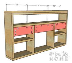 Today's desk is perfect for small spaces. It offers a generous work surface plus built-in shelving for office supplies, but it folds up ou. Wall Mounted Desk Folding, Folding Desk, Folding Walls, Fold Away Desk, Wooden Toy Boxes, Home Decor Shelves, Rustic Bedroom Furniture, Desks For Small Spaces, Wall Desk