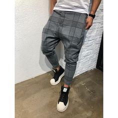 Buy Men's Fashion Plaid Digital Print Casual Pants Gradient Casual Pants at Wish - Shopping Made Fun Mens Plaid Pants, Men Trousers, Cargo Pants Men, Slim Fit Trousers, Mens Joggers, Sport Pants, Jogger Pants, Harem Pants, Casual Pants
