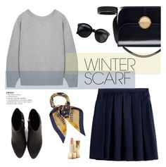 """""""Only when we are brave enough to explore.."""" by minorseventh ❤ liked on Polyvore featuring Burberry, Sacai, Hermès, Marni, Alexander Wang and winterscarf"""