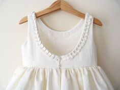 Girls Dress - Pleat Detail and Low Back