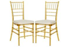 Byron Side Chairs, Pair