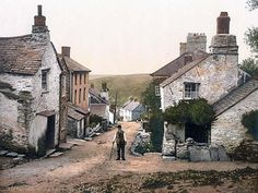 Boscastle, the village street, Cornwall, England ca.1895