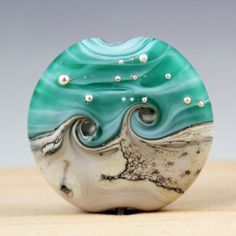 Lampwork Glass Focal Bead Etched Matte by StoneDesignsbySheila, $28.00