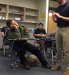 Durmiendo en clase