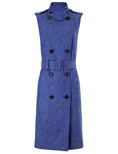 Derek Lam Blue Denim Trench Dress, $1,420; avenue32.com     - ELLE.com