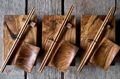 Handcrafted sushi set - a covetable piece on the West Coast Sushi Plate, Sushi Set, Wooden Kitchen, Wooden Bowls, Wood Turning, Woodworking Crafts, Wood Art, A Table, Wood Crafts