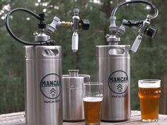 What if you could take a personal keg system anywhere? Well, with the ManCan 128 Machismo Kit you can! The ManCan 128 holds the equivalent of nearly 11 bottles of beer, and features a perfect pour, regulator system, allowing you and your frie Home Brewery, Home Brewing Beer, Ginger Ale, Craft Bier, Beer Company, Brewing Equipment, Brew Pub, Beer Recipes, How To Make Beer