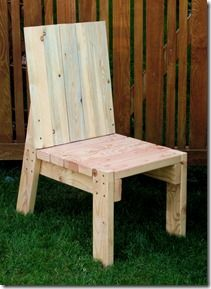 Reitveld inspired 2X4 chair. A solid design that looks like it can be adapted for construction from reclaimed lumber.