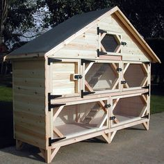 Gallery For > Double Rabbit Hutch Plans More