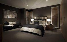 black dark feature wall bedroom sexy elegant sleek