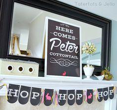 hop hop hop spring banner free printable at tatertots and jello