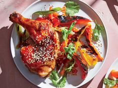 This fun twist on barbecue chicken borrows flavors from a Chinese takeout favorite. We grill the chicken without any of the glazy sauce b...
