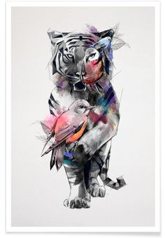 Tigers Eye en Affiche premium par Birgit Palma | JUNIQE
