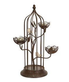 Another great find on #zulily! Birdcage Tealight Holder #zulilyfinds