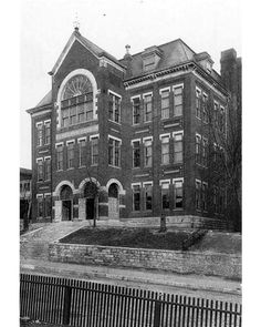 Central High School building. 11th and Locust c1890.