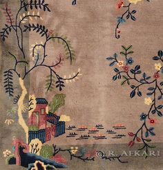 Art Deco Chinese carpet, 7′ x 5′