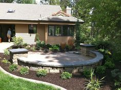Best Excellent Front Yard Patio Design Ideas Ideas & Relateds Product - Home Design Courtyard Landscaping, Front Courtyard, Front Yard Landscaping, Landscaping Ideas, Landscaping Software, Front Yard Patio, Front Yard Design, Patio Design, Front Porch