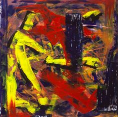 Man macht, schilderij van Christian van Hedel .. Kunst / Abstract / Modern / Schilderij