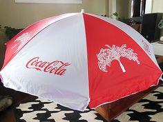Coca Cola Patio Beach Umbrella
