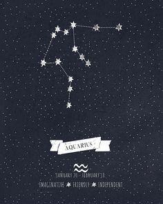 Resultado de imagem para tatuagem constelação de aquario