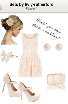 Pretty in Peach;) Cute wedding guest outfit inspiration<3 would you wear it?