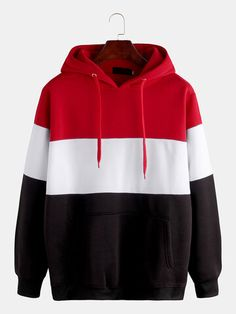 Mens Brief Style Hit Color Warm Casual Hoodies Hoodie Sweatshirts, Sweatshirts Online, Printed Sweatshirts, Sweat Cool, Make Money Now, Cool Hoodies, Clothes For Sale, Hooded Jacket, Mens Fashion