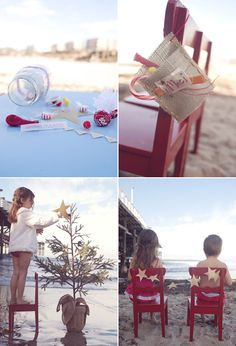 i would love to take a picture like the one on the bottom left of Lily for a Florida Christmas card!