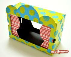 MollyMooCrafts Shoe Box Puppet Theatre - MollyMooCrafts