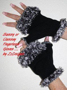 Fingerless Gloves FurryFunky ReVamped one size by Ablast2thepast, $12.00