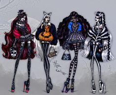 Hayden Williams Fashion Illustrations  Haute Halloween by Hayden Williams