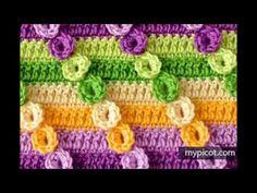Manta o Cobija para Bebés Tejidas a crochet - YouTube