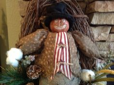 Grapevine Pumpkin Man Wreath by SimpleSouthernSass on Etsy, $75.00