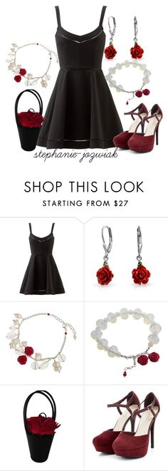 """""""Chloe's Dress for Carla's Funeral"""" by stephanie-jozwiak ❤ liked on Polyvore featuring мода, Elizabeth and James, Bling Jewelry и Lulu Guinness"""