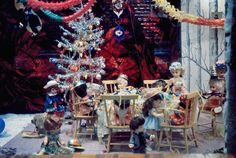 A festive tea party in the window of Callers department store in Newcastle upon Tyne, in Christmas Past, Retro Christmas, Christmas Design, Christmas Photos, Christmas Shopping, Christmas Windows, Xmas, Old Photos, Vintage Photos