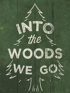 into + the woods