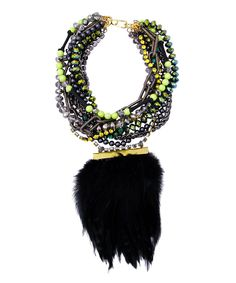 versaille feather collage necklace. A gorgeous statement :]