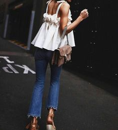 Beach Fun And Summer Looks 2018 Picture Description summer style Diy Outfits, Mode Outfits, Casual Outfits, Fashion Outfits, Womens Fashion, Fashion Trends, Jeans Fashion, Ladies Fashion, Basic Outfits