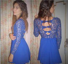 Um vestido que a nossa aluna Rita fez.