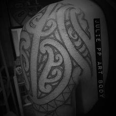 Ta moko shoulder outlined Tribal Tattoos, Outline, Shoulder, Maori