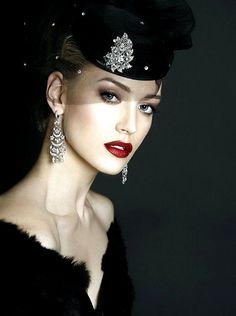 SHE LOVES FASHION rhinestone crin with pillbox. #millinery #judithm #hats