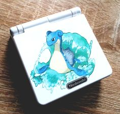 from $99 - #gameboy advance sp pokemon lapras custom limited edition